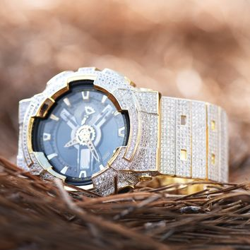 Fully Bling Authentic G-Shock G100-110 Mens Watch