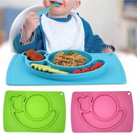 Silicone Mat Table Baby Kids Food Dish Tray Placemat Plate Bowl No BPA