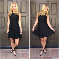 Some Flair Little Black Dress