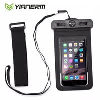 """Yianerm Universal Waterproof Case for iPhone 6S 6Plus Galaxy S6 Note4 within 5.5"""" with Compass Lanyard swimming Waterproof Pouch"""