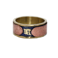 copper spinning lapis ring