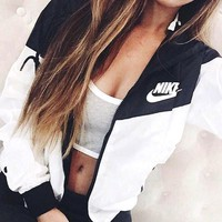 NIKE Hooded Zipper Cardigan Windbreaker Sweatshirt Jacket Coat Sportswear Tagre™