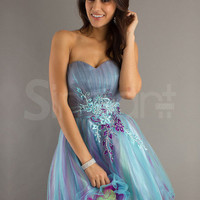 Gorgeous Sweetheart Embroidery Organza Mini Homecoming/Graduation Dress  from SinoAnt