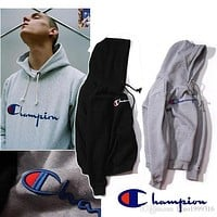 2017 champion hooded wweater plus cashmere lovers sport hoodies sudaderas mens hoodies and sweatshirt skateboard jumper with hat