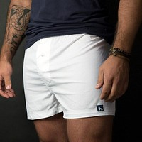 Solid White Boxer Short - Edward