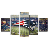 New England Patriots 5 panel pcs wall art on canvas picture print poster