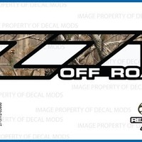 Chevy Silverado RealTree AP Z71 Off Road decals stickers - AP (2001-2006) bed side 1500 2500 HD (set of 2)