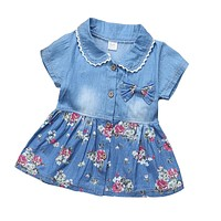 Baby Girls Dress Toddler Baby Floral Dresses Kids Girls Summer Casual Dress Costume Girls Party Dress Clothes 0-2 Y
