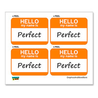 Perfect Hello My Name Is - Sheet of 4 Stickers