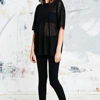 Urban Renewal Vintage Remnants Sheer Tee in Black - Urban Outfitters