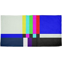 Halloween SMPTE Color Bars Late Night TV Costume All Over Beach Towel