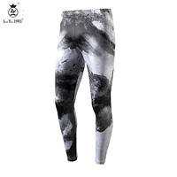 2016 Year fashion Men Pants Runnings Fitness Joggers Compression Tights Long Pants Leggings Mens Gyms Wear Joggings