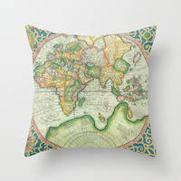 Terra Firma Throw Pillow by Catherine Holcombe