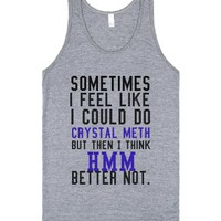 C - Crystal Meth-Unisex Athletic Grey Tank
