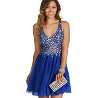 Bobbie-blue Homecoming Dress