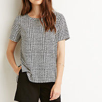 Boxy Houndstooth Top