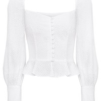 VALENTINA BUSTIER PUFFY SLEEVE TOP