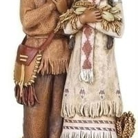 2 Thanksgiving Figurines - Indians