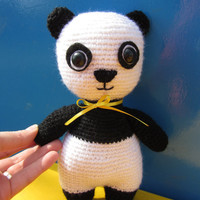 Pretty Toy PANDA, Crochet Animals, Black and White Panda, Stuffed toy, Cute Gift