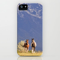 Paint Horses and Western Landscape Photograph iPhone & iPod Case by Apples and Oats Photography
