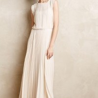 Icepleat Maxi Dress by Bordeaux Ivory
