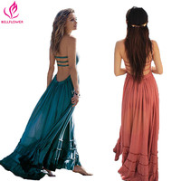 BellFlower Summer Dress Women Bohemian Sleeveless People Sexy Boho Dresses Blackless Party Hippie Bandage Beach Dress Vestidos