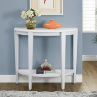 """White 36""""L Hall Console Accent Table"""
