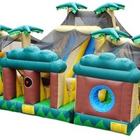 Kidwise 3 Piece Obstacle Course Interactive Inflatable- Tropical | www.hayneedle.com