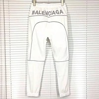 Balenciaga 2019 new casual versatile pants white