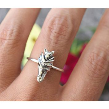 A Cloaked Baby Bat Ring