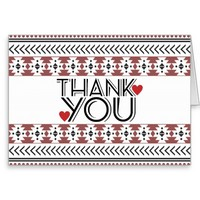 Thank You Cards | Trendy Aztec Pattern