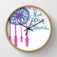 Live Your Dreams - White Wall Clock by Intrinsic Journeys
