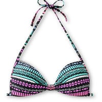 Empyre Variant Ombre Tribal Print Molded Cup Bikini Top
