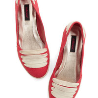 ModCloth Nautical All Over the Lace Flat