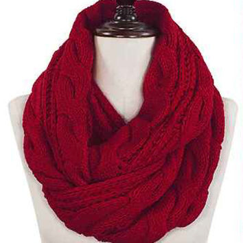 Cable Knit Infinity Scarf (more color options)