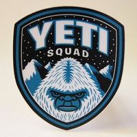 Yeti Squad Membership Kit (Basic): Embroidered Patch, Card, Button/Pin
