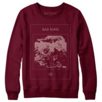 Dark Roses Crewneck Sweatshirt, Cranberry from Bad Suns