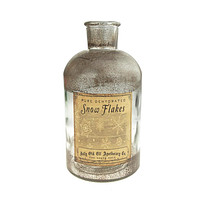 Glass Frosted Pure Dehydrated Snowflakes Apothecary Jar, Clear, 7-1/2-Inch