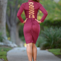 Sally Dress - Burgundy