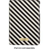 kate spade new york - Striped Folio Hard Case for Apple® iPad® mini 2 and iPad mini 3 - Black/Cream