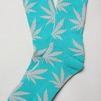 The Plant Life Socks in Teal & Grey