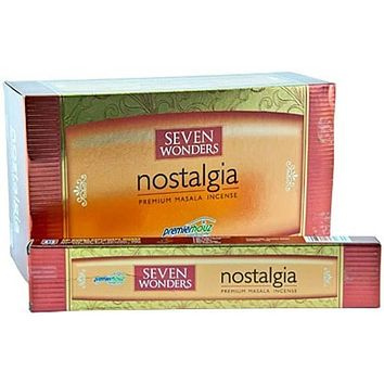 Seven Wonders Nostalgia Incense - 15 Gram Pack (12 Packs Per Box)