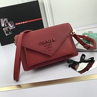 prada newest popular women leather handbag tote crossbody shoulder bag satchel 37