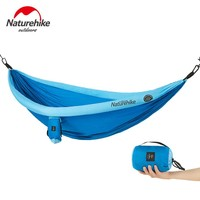 Naturehike Outdoor Travel Camping Double Hammock Hanging Sleeping Swing Bed with Mosquito Net Tunnel Type Lightweight Folding