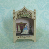 Miniature Theater Vignette in Pale Cocoa