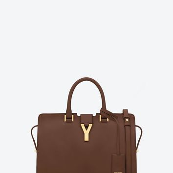 Saint Laurent Classic Small Y Cabas Bag In Cognac Leather | ysl.com