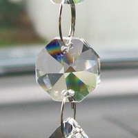 Crystal Car Ornament, Rear View Mirror Hanger, Crystal Charm, Car Charm, Suncatcher, Light Catcher, Car Accessory