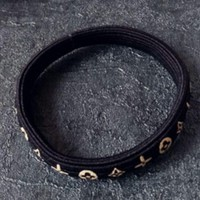 ONETOW Louis Vuitton small fresh adult hair accessories tied female hair bandage Ma rubber band head cord holster Black