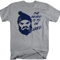 Funny The Beard To Be Feared Angry Lumberjack T-Shirt Men's Gift Idea Hipster Tees
