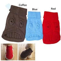 New Fall And Winter Hot Pet Dogs Cat Knitwear Sweater Small Dog Warm Coat Clothes Size XS/S/M Low Price P17